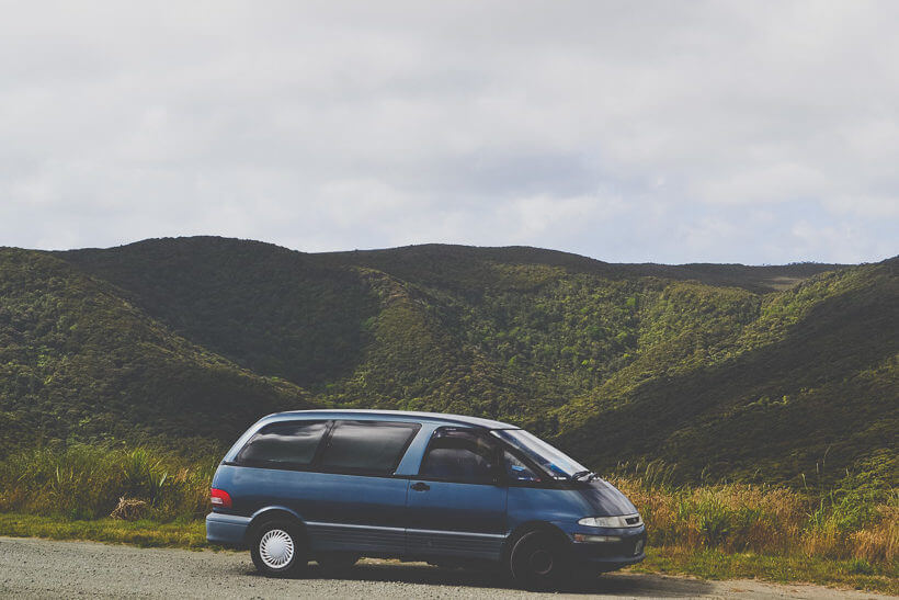 Traveling in New Zealand with a van