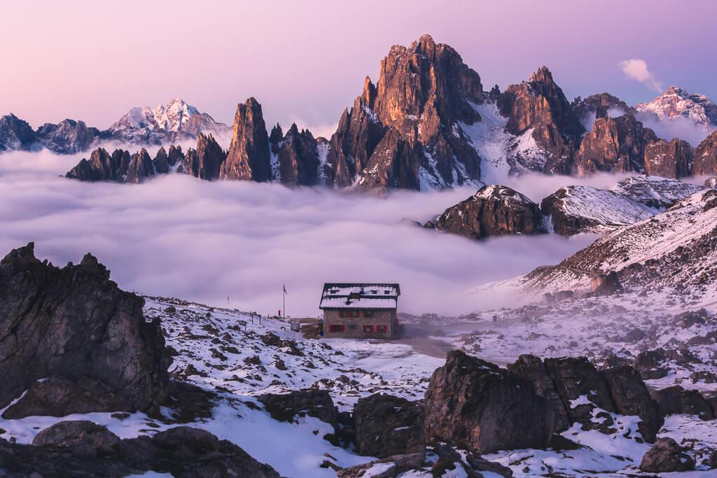 winter, rifugio lavaredo,tre cime, Dolomites, Dolomiti, Italy, Landscape, Marco Grassi, Marco Grassi Photography