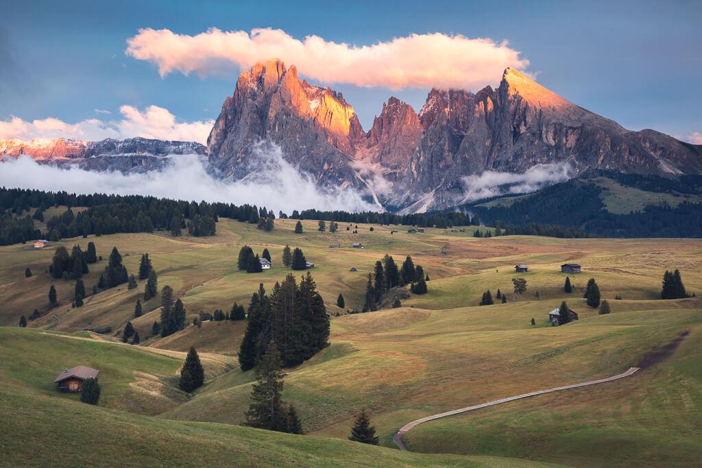 Sunset, Alpe di Siusi, Dolomites, Dolomiti, Italy, Landscape, Marco Grassi, Marco Grassi Photography