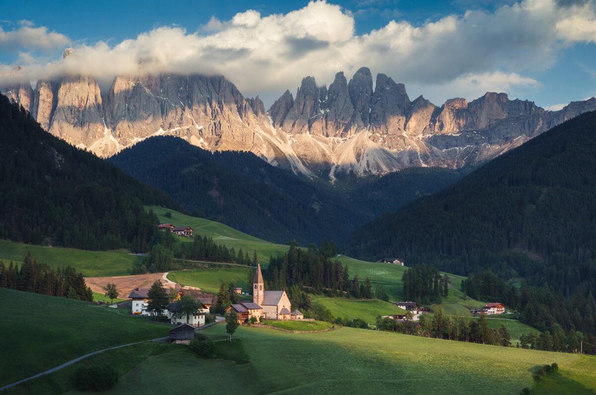 Val di funes, Dolomiti, Dolomites, Church, Summer, workshop, photo tour,