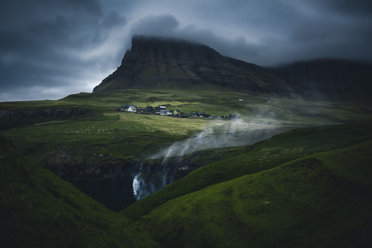Gásadalur, Faroe Islands, Waterfall, Remote Village,Vagar, Marco Grassi, Marco Grassi Photography, FineArt landscape photography,