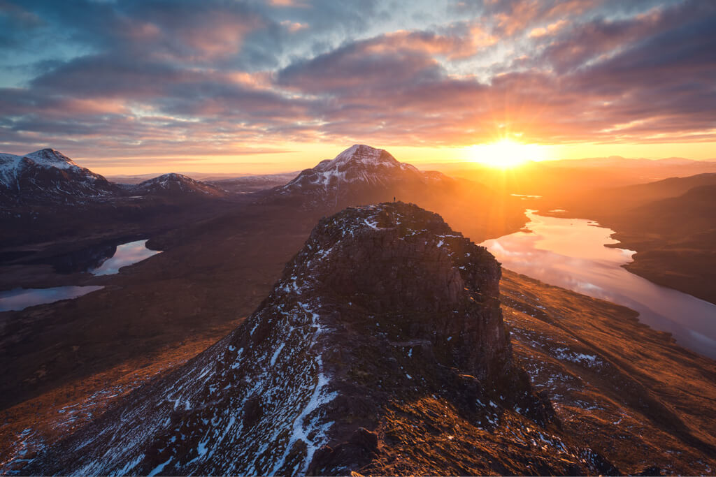 Scotland, Stac Pollaidh, Highlands, Sunrise, Winter, Mountains, Outdoor, Lakes, Marco Grassi, Marco Grassi Photography, FineArt landscape photography,