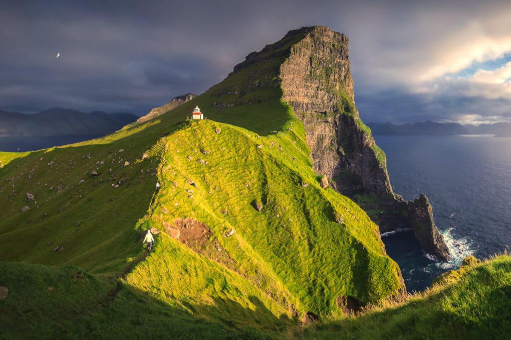 Sunset at Kallur Lighthouse during the Faroe Islands Photo Tour