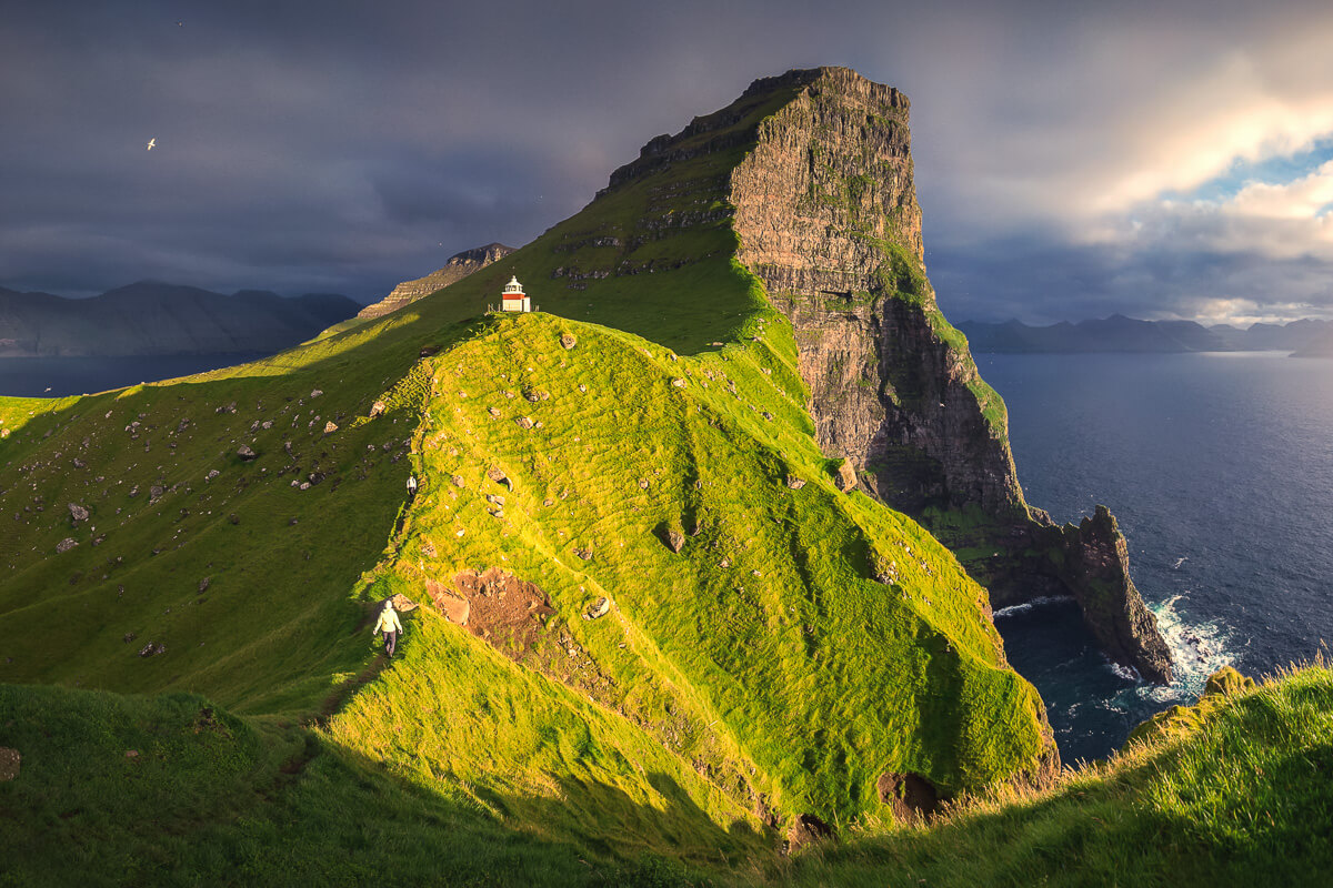 Sunset at Kallur Lighthouse during the Faroe Islands Photo Tour