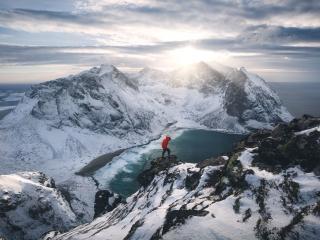 Norway, Winter, Arctic Circle, Marco Grassi Photography, Ryten, Lofoten Islands, hike, outdoor
