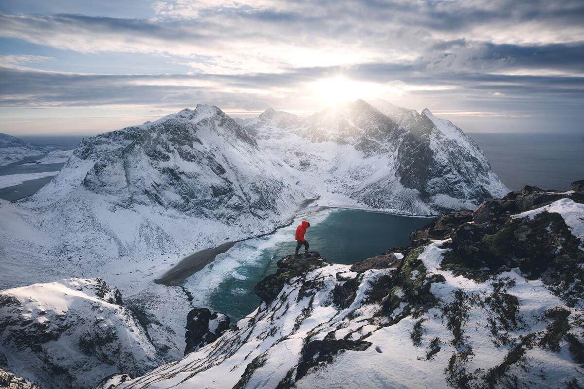 Norway, Winter, Arctic Circle, Marco Grassi Photography, Ryten, Lofoten Islands, hike, outdoor