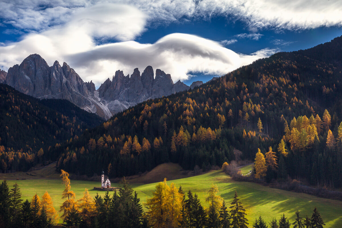 Autumn day in Val di Funes