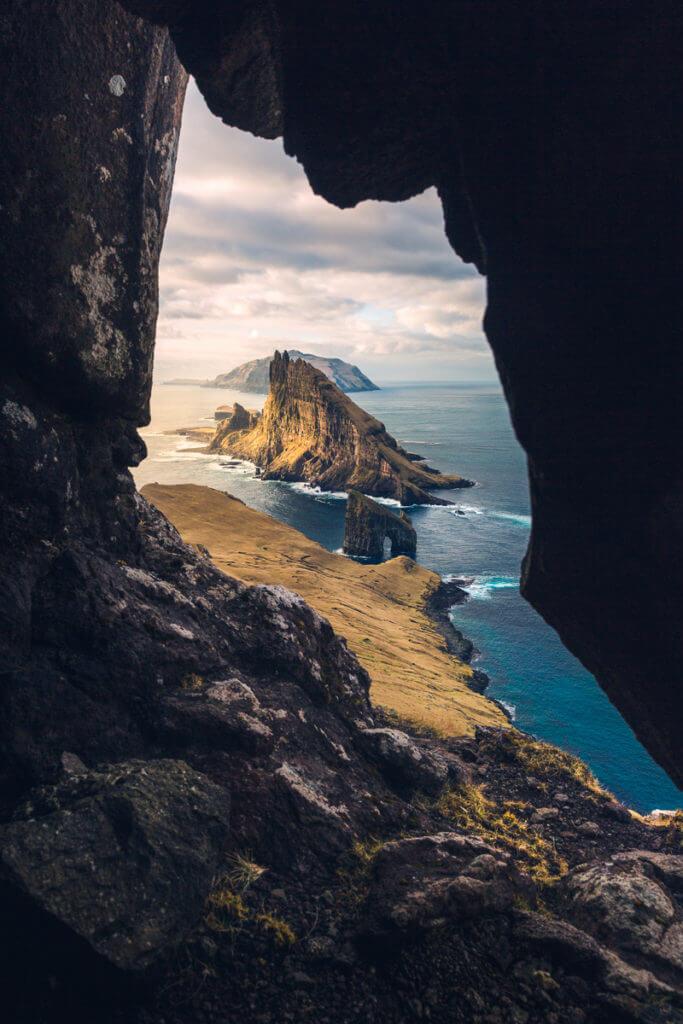 Framing Tindholmur during the Faroe Islands Photo Tour