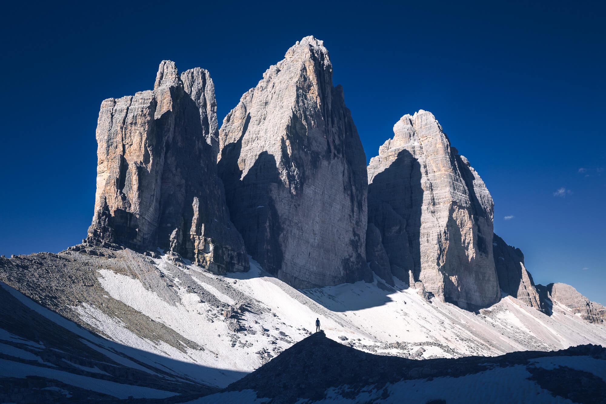Tre Cime di Lavaredo in the Dolomiti