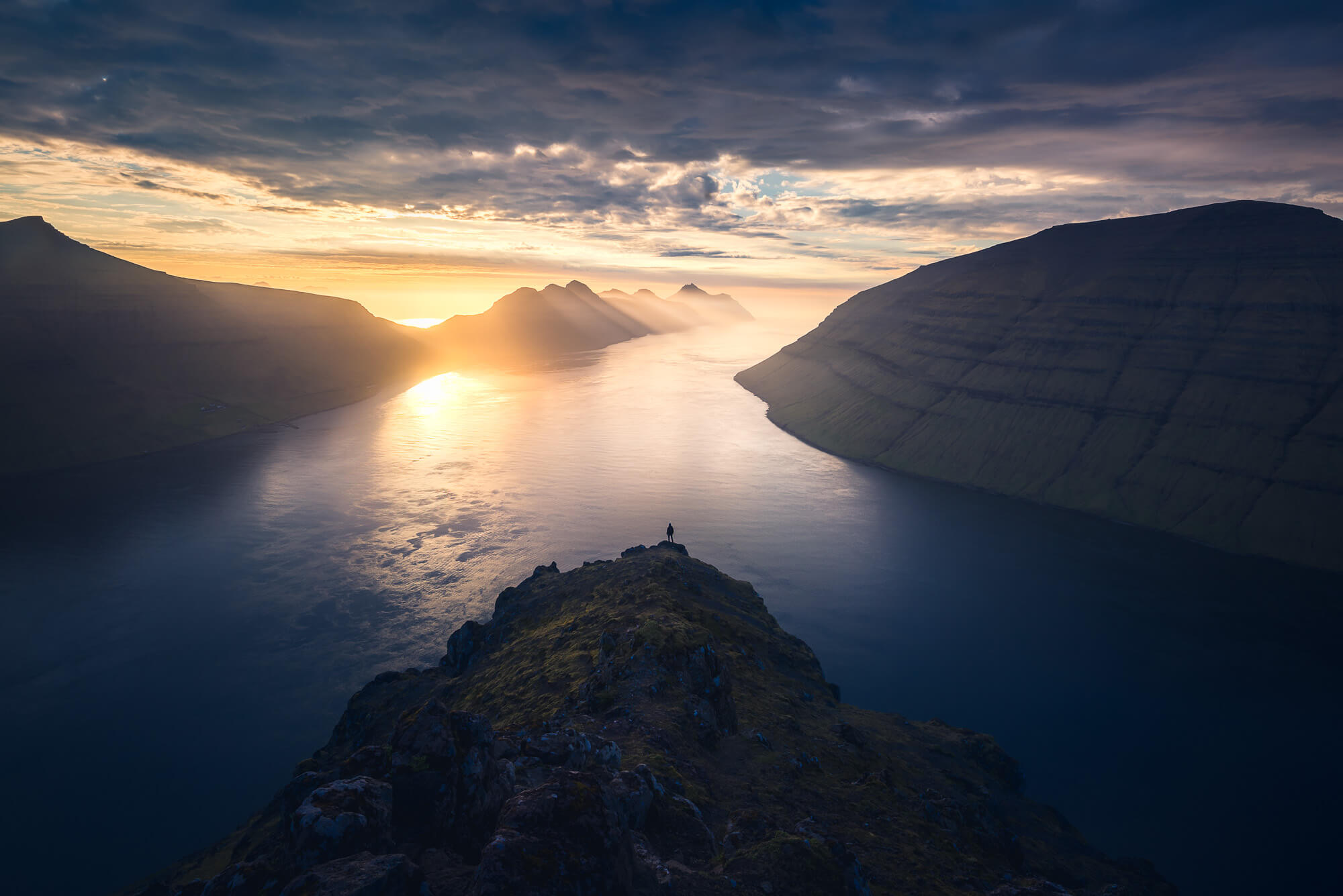 View over the fjords in the Faroe Islands