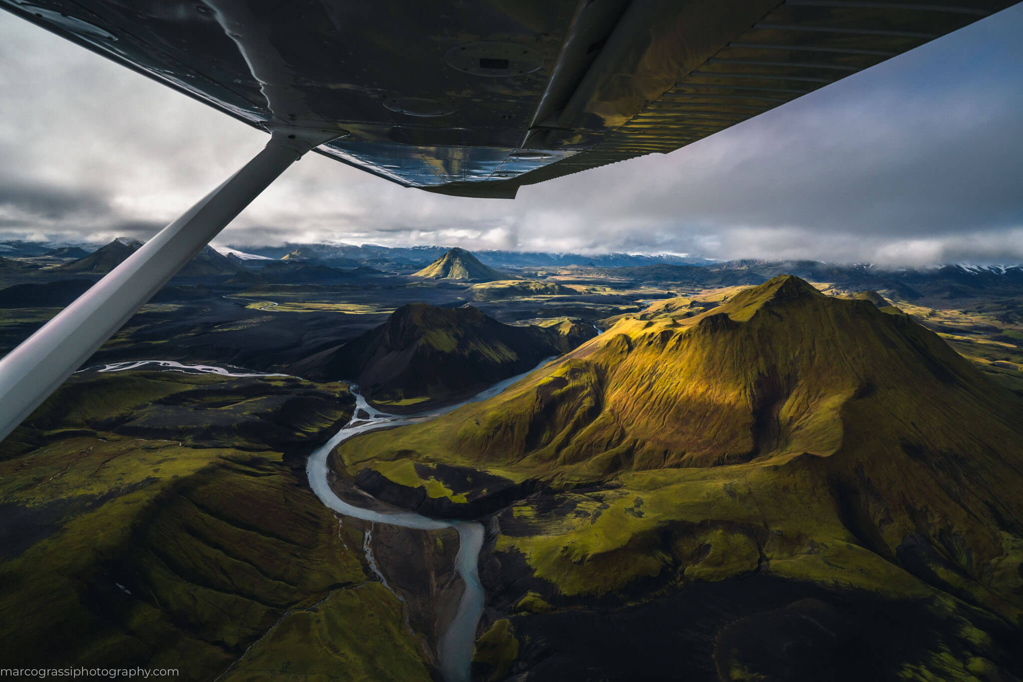 Flying above Iceland