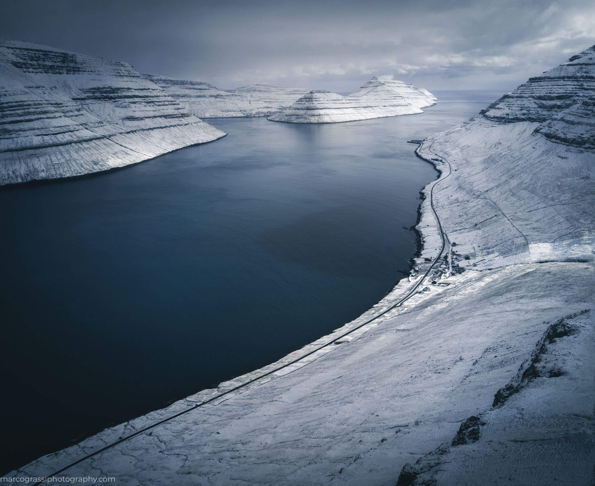 Faroe Islands with the snow
