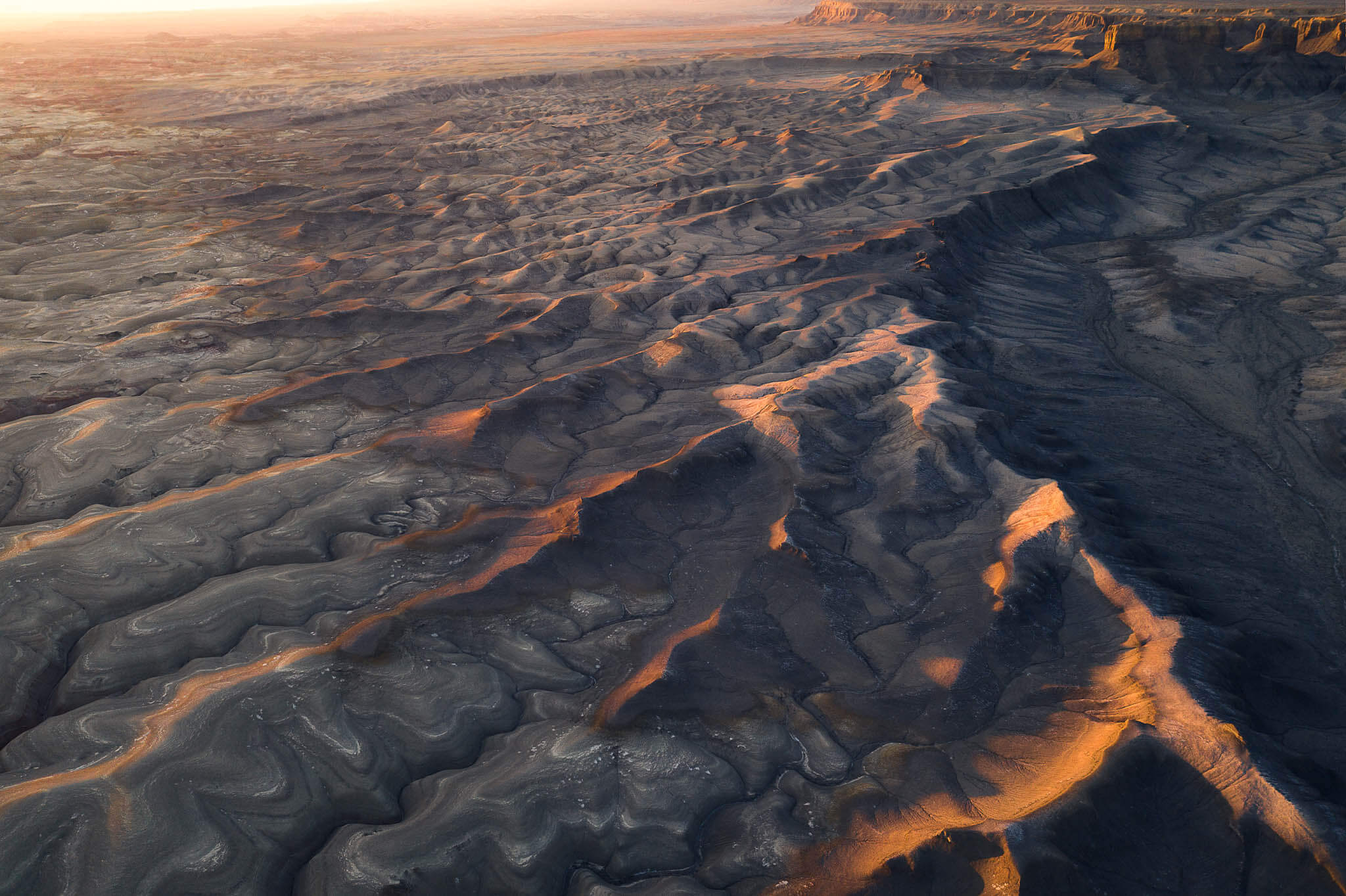 Badlands aerial photography of Marco Grassi