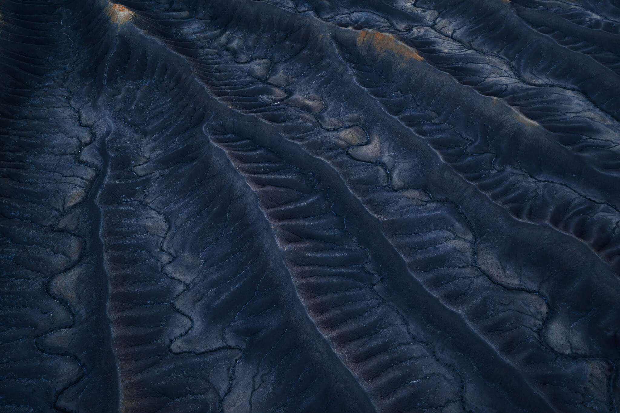Aerial images of the Badlands in Utah