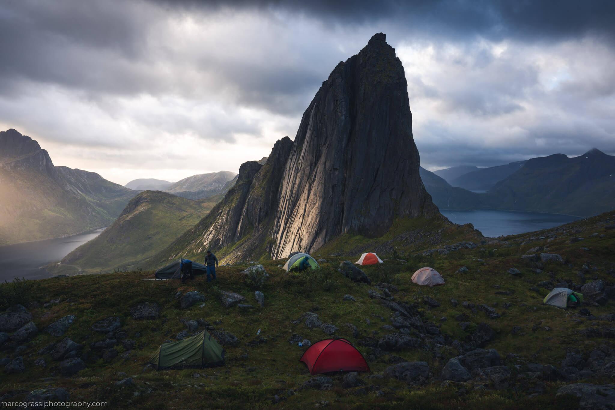 Camping at Segla during the Senja Photo Tour