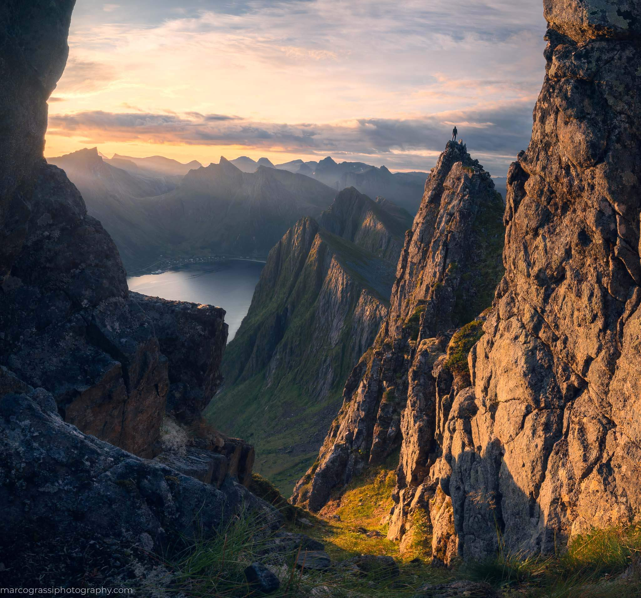 Reaching the top during the Senja Photo Tour