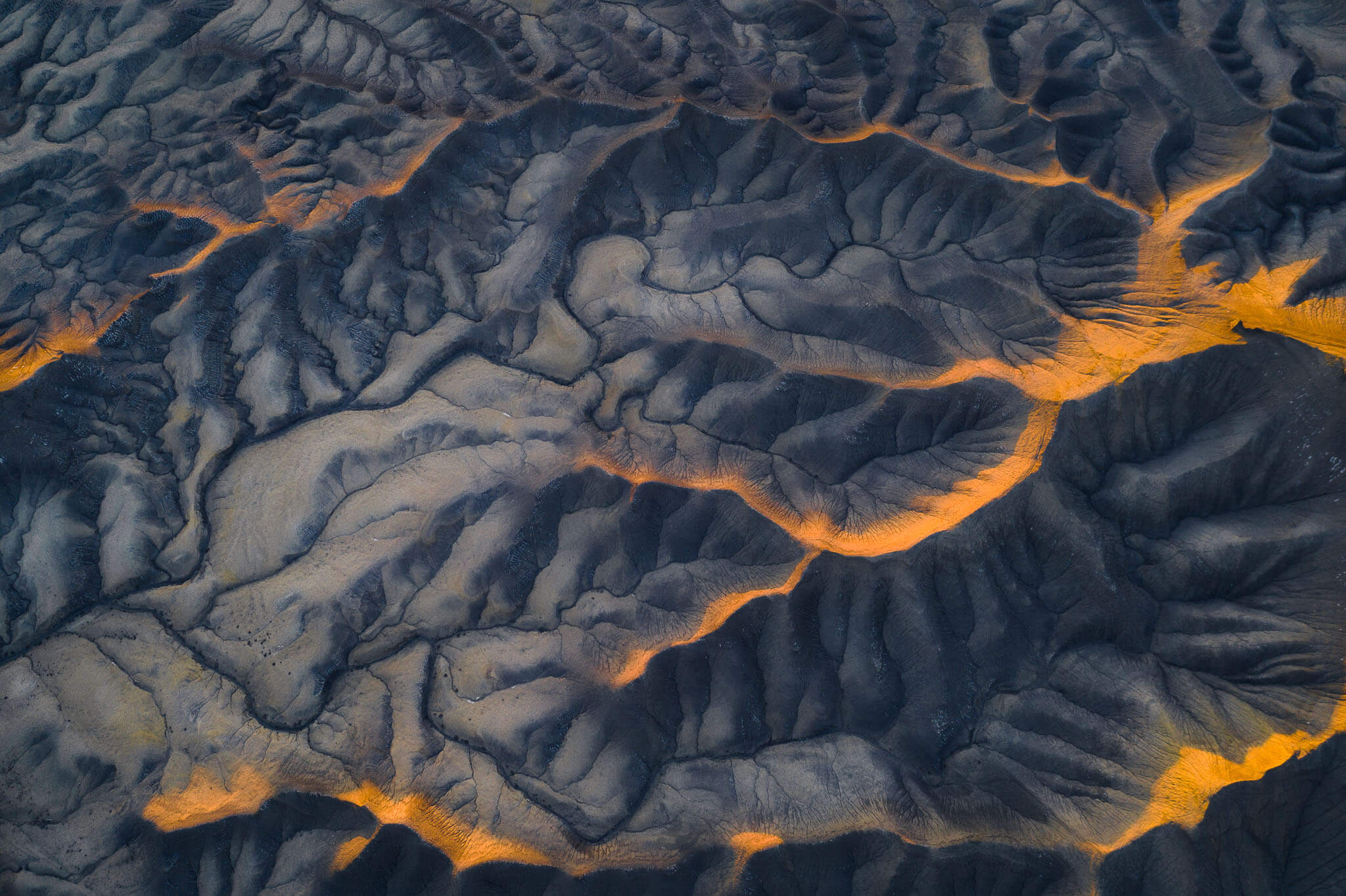 Abstract aerial photography in USA