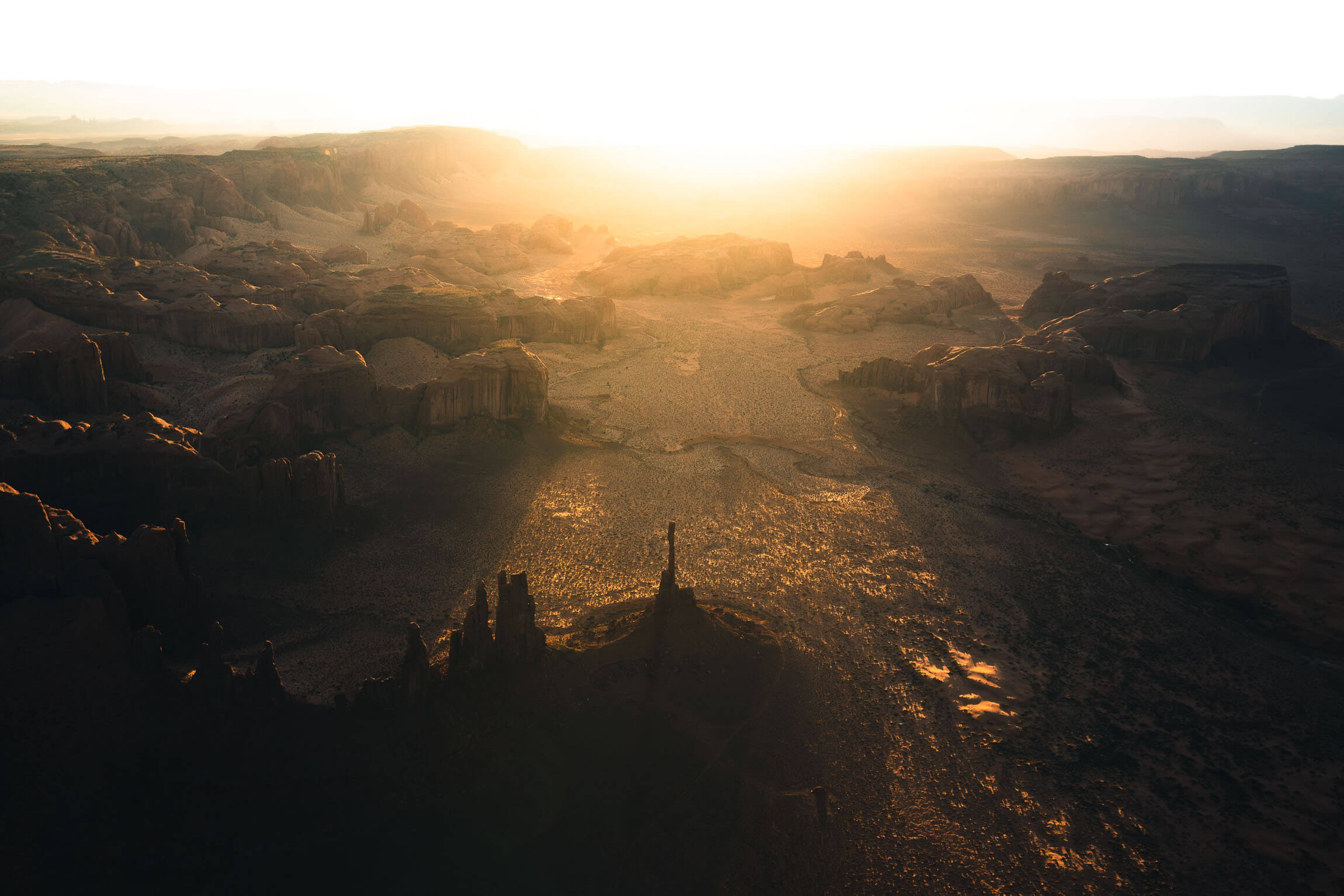 Aerial images of Monument Valley