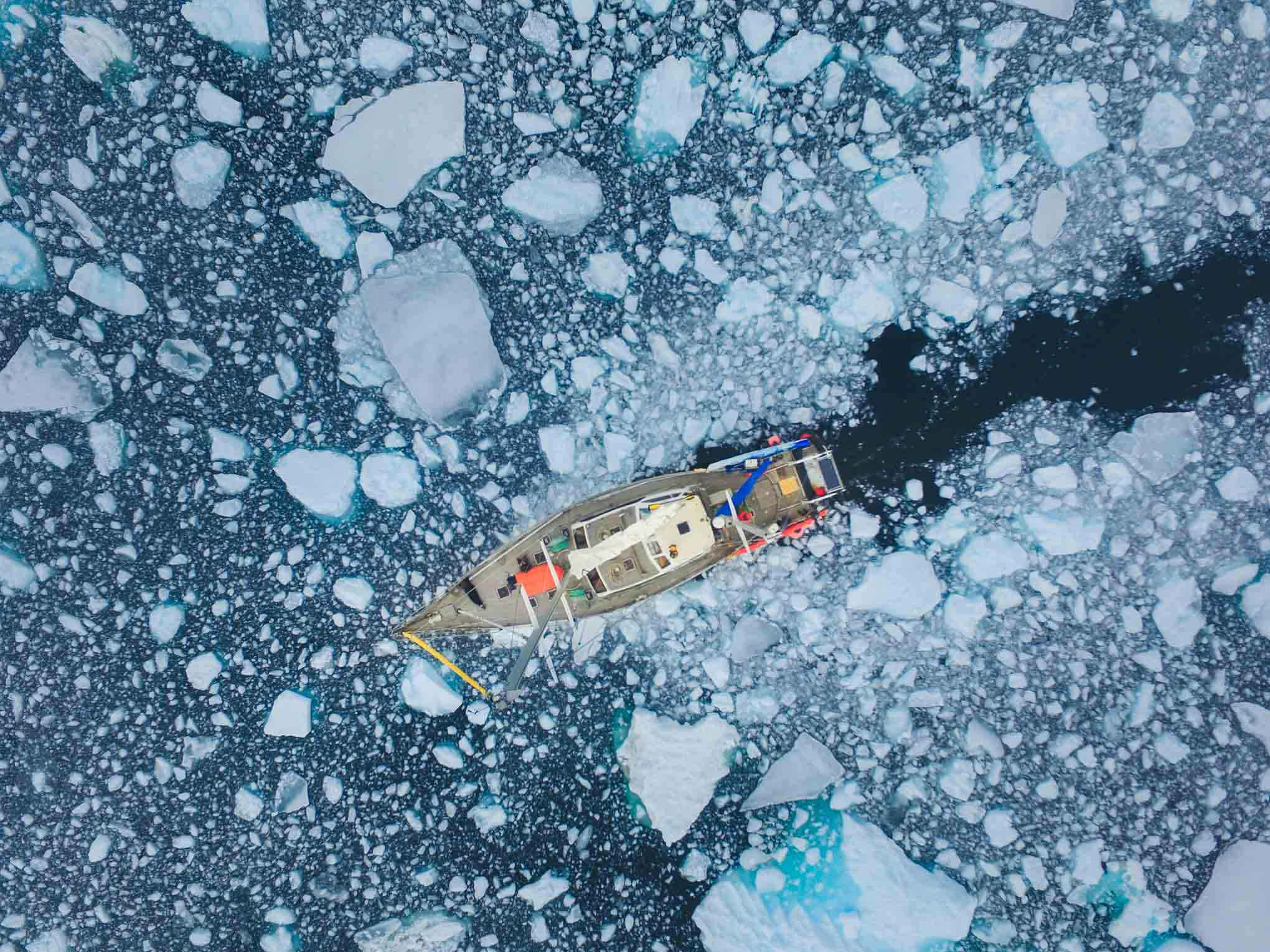 Breaking ice during the Antarctica Photography workshop with Marco Grassi Photography