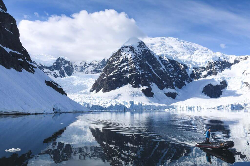 Mountain reflection during the Antarctica Photography workshop with Marco Grassi Photography