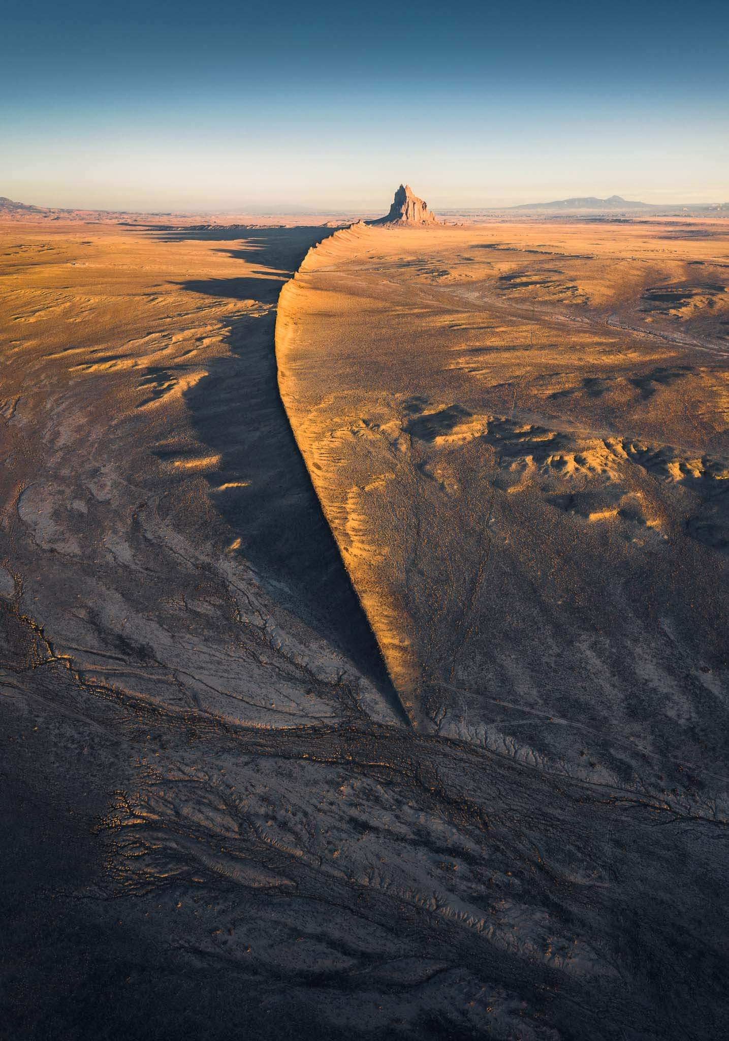 Flying above Shiprock in New Mexico