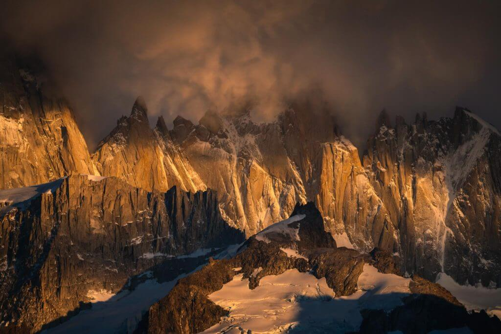 Patagonia at sunrise in April