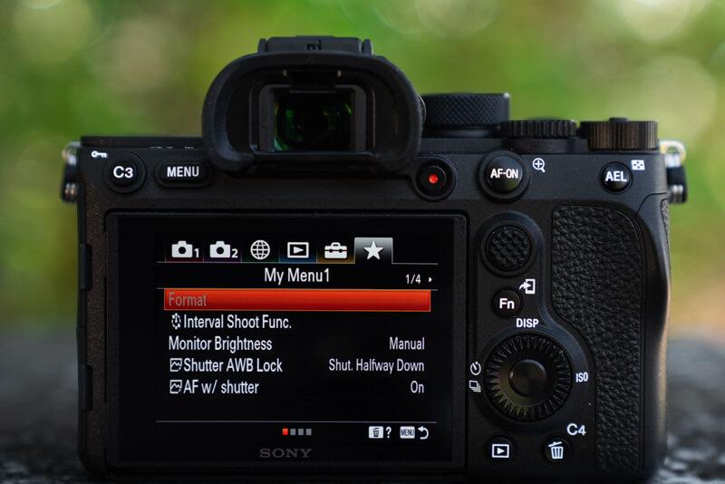 Marco Grassi Custom Menu Settings 1/3 Sony A7R IV