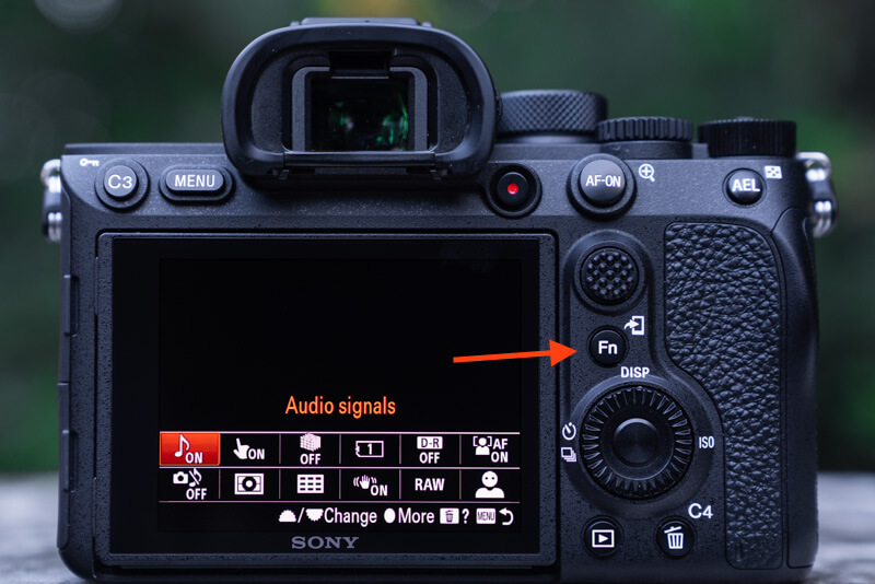 Sony A7R IV Menu Set Up: function menu