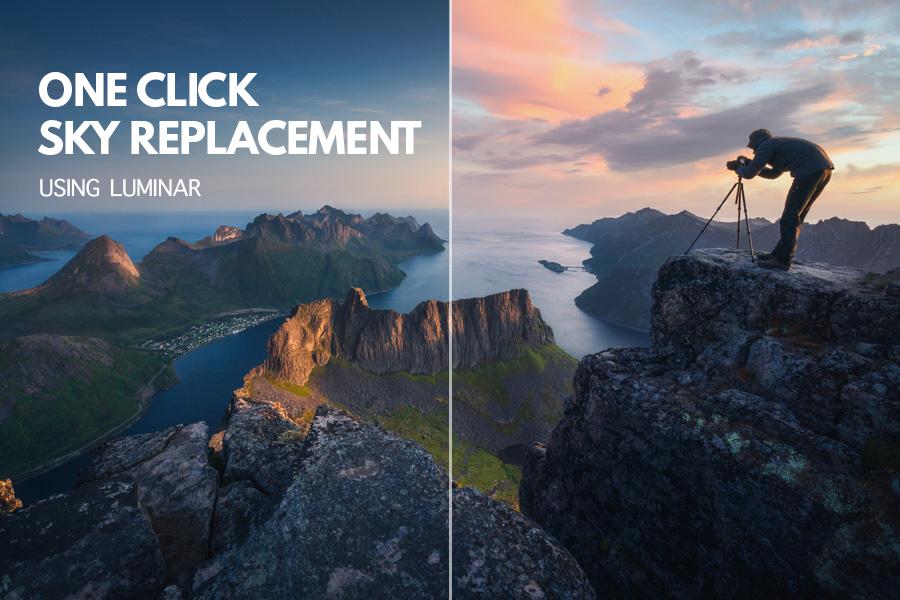 One click sky replacement Luminar