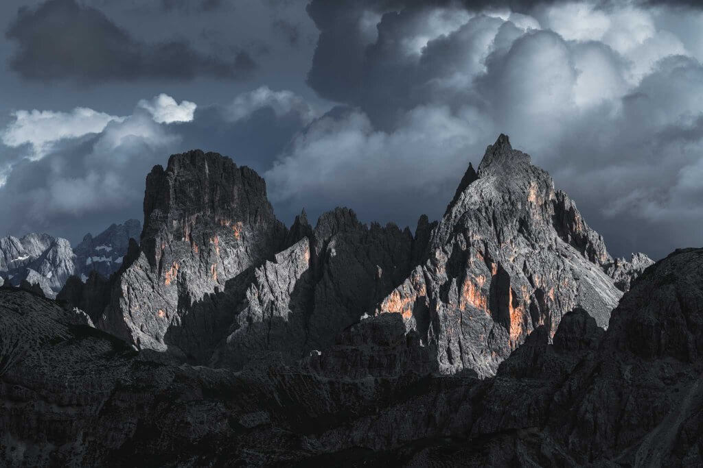 Summer storm over Cadini di Misurina