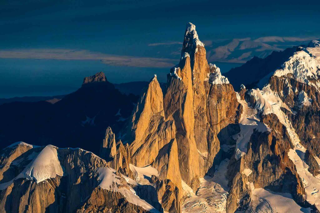 Cerro Torre from the air