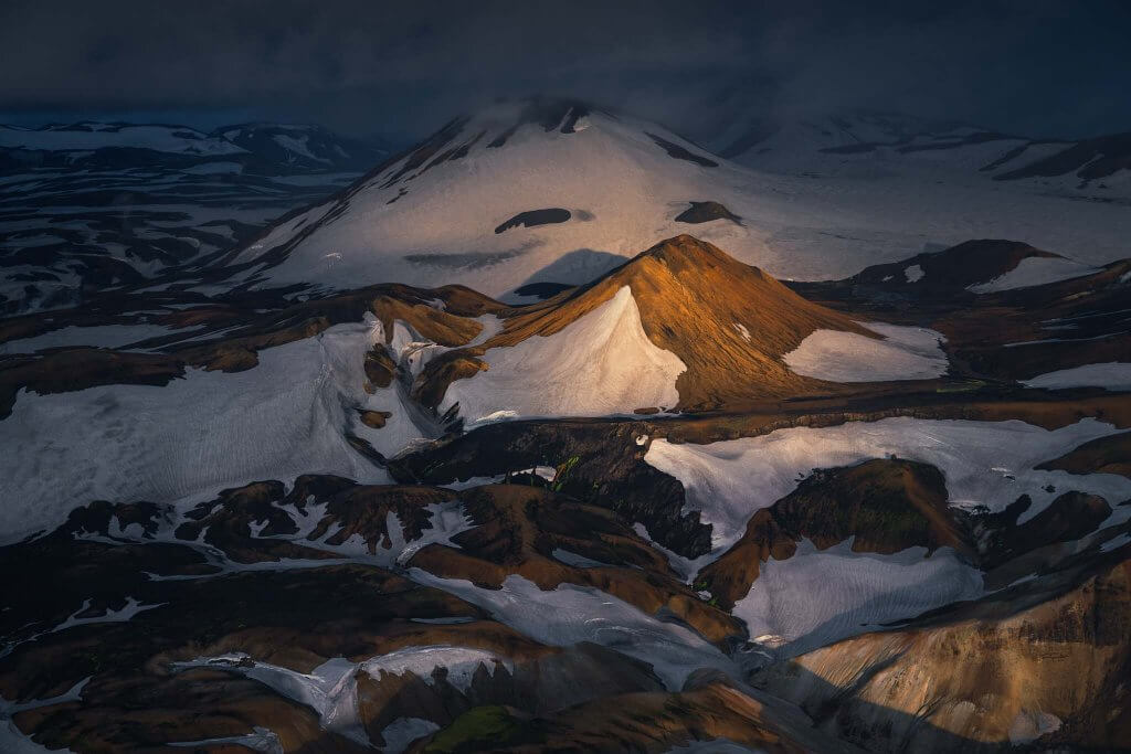 The Highlands of Iceland from above
