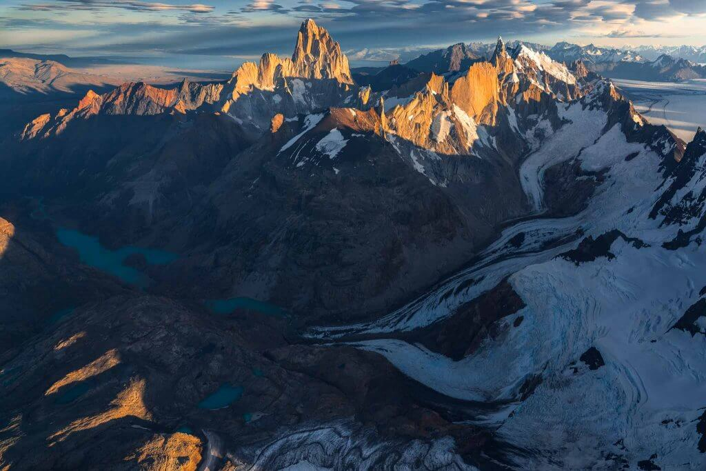 Fitz Roy and Cerro Torre from the air
