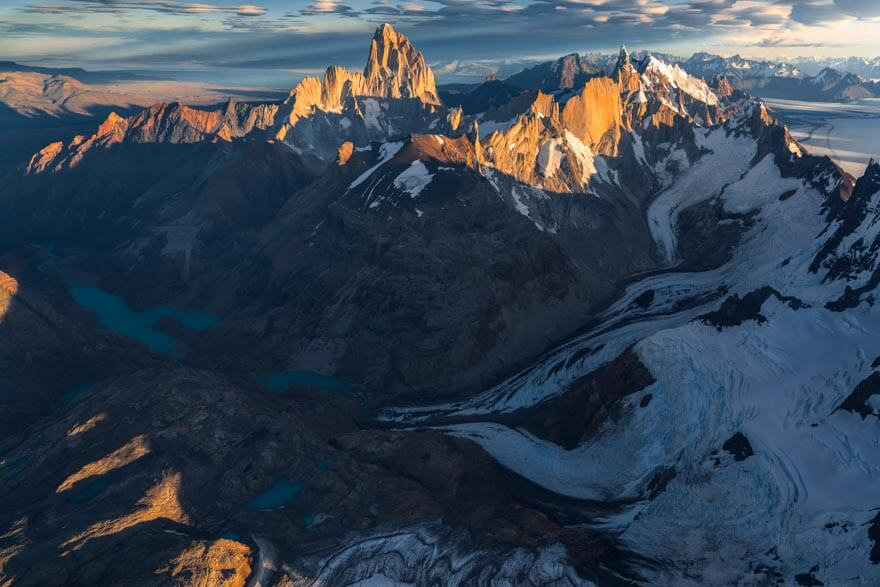 Fitz Roy and Cerro Torre during the Patagonia Ice Field Expedition