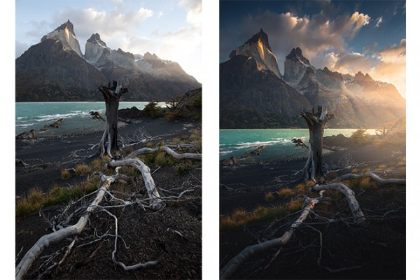 Tutorial before and after on Marco Grassi Photography