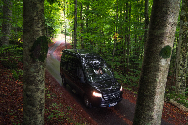 Road trip on board of the Hymer Free S 600
