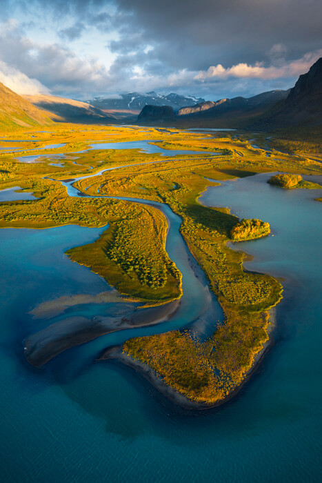 Flying above Sarek National Park