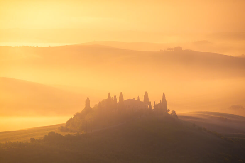 Sunrise during the Tuscany Workshop by Marco Grassi Photography