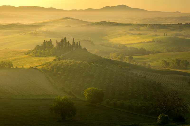 Sunrise during the Tuscany Photo Tour by Marco Grassi Photography