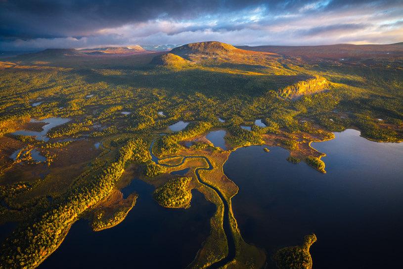 Sarek photo tour in Sweden, Aerial view