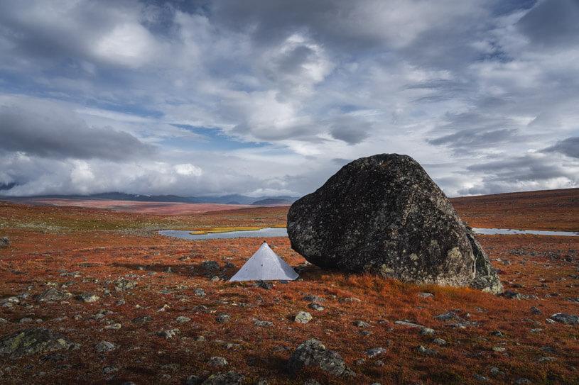 Camping during the Sarek photography workshop