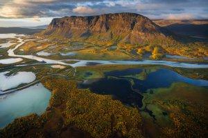 Sarek photo tour, aerial photo by Marco Grassi Photography